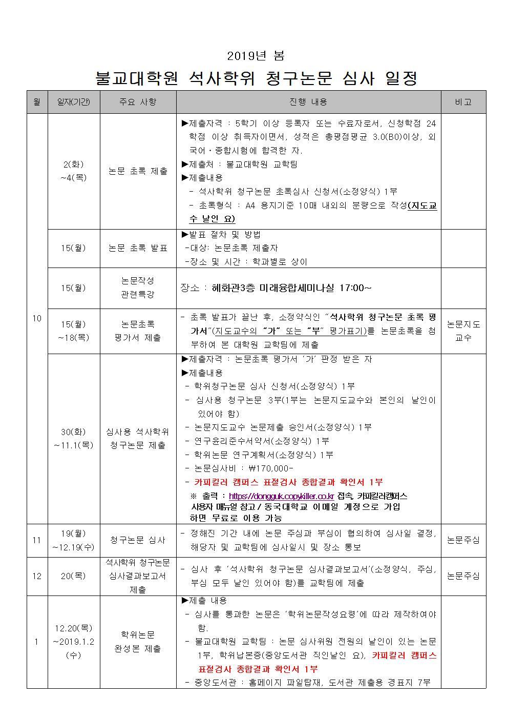 (첨부1) 석사학위청구논문심사일정(2019-봄)001