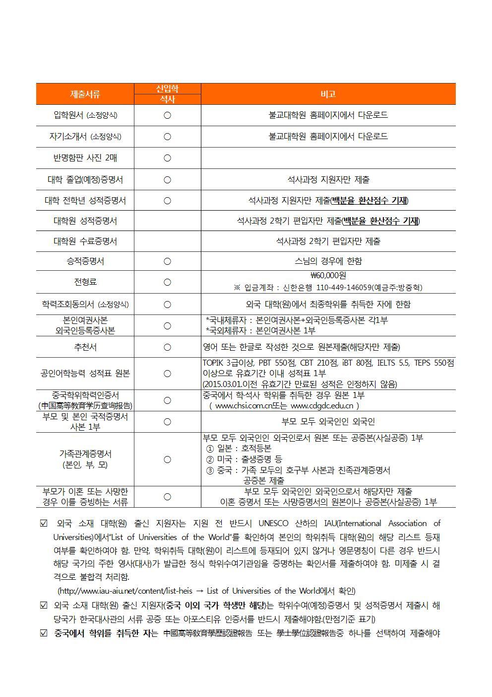(홈페이지 게시용) 불교대학원 2017학년도 전기 신입생 3차모집 요강003